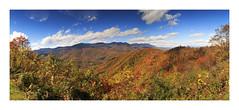 Blue Ridge Mountain Panorama (Jo McD) Tags: autumn panorama blueridgemountains mountains colour colours usa northcarolina blueridgeparkway landscape
