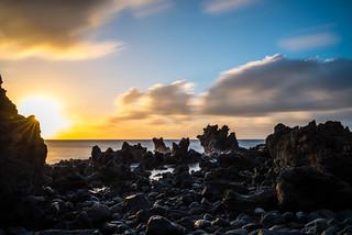 Sunset at Los Hervideros - Lanzarote, Canary Islands
