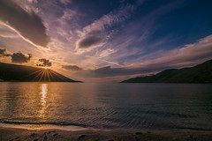 Sunset time (Vagelis Pikoulas) Tags: sun sunset sunburst sunshine porto germeno greece sea seascape landscape beach sky clouds cloudy cloud view november 2017 autumn tokina 1628mm canon 6d