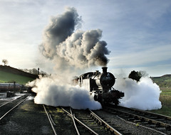 Open drain cocks. (johncheckley) Tags: d90 uksteam locomotive steam