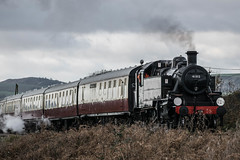 Ivatt hauls the Christmas Belle (Ben_Broomfield) Tags: ivatt 2mt 41 41312 christmasbelle chris christmas belle dining service harmans cross swanagerailway steam smoke swanage corfecastle corfe heathland locomotive br dorset d3300 december nikon purbeck