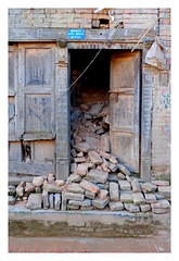 Earthquake damage (posterboy2007) Tags: nepal earthquake building architecture collapse door sony bhaktapur