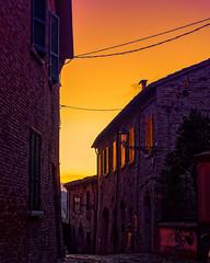 _B180119_DxO (Ryosei Onishi) Tags: rimini pier sunset boat seagulls longiano cesena bicycle rust warm fall autumn colorfull