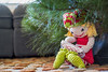 Under the tree. (Eddy Summers) Tags: homemade knitted stitched toy softtoy elf shelfelf elfontheshelf christmas cute