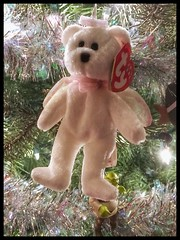 Day 339 TY Angle bear ornament (Dragon Weaver) Tags: ty beanie angel ornament pad dec 1205 2017