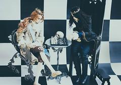 White King - Black King (3) (toriasoll) Tags: bjd abjd doll dolls dollphoto dollphotography chess blackwhite king kings dollzone raymond demiurgedolls renault demiurge demiurgerenault