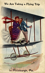 We Are Taking a Flying Trip in Pittsburgh, Pennsylvania (The Paper Depository) Tags: postcard pennsylvania pittsburgh airplane