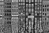 Amsterdam/Hintertür II (Zesk MF) Tags: netherlands dutch amsterdam zesk mono black white street wasser water spiegelung reflection mirroring haus boot tür fenster architecture