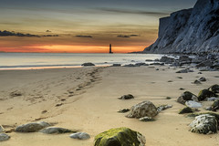 Beachy Head Sunset (Nathan J Hammonds) Tags: beachy head sunset lighthouse hdr nikon d750 2485mm beach sand sea water coast east sussex cliffs sky clouds rocks tide uk