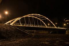 DSC_8399 (Copy) (pandjt) Tags: chilliwack bc britishcolumbia nightphotography vedderbridge vedderriver chilliwackriver bridge steelarchbridge archbridge