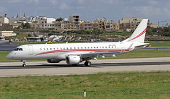 A6-HHS LMML 17-11-2017 (Burmarrad (Mark) Camenzuli) Tags: airline falcon aviation services aircraft embraer 190 lineage 1000 registration a6hhs cn 19000296 lmml 17112017