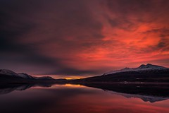 Sunset in Eyjafjordur (Einar Schioth) Tags: sunset eyjafjordur sky shore evening canon clouds cloud coast stillness sea nationalgeographic ngc nature night landscape lake photo picture outdoor iceland ísland einarschioth mtsulur