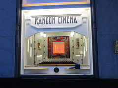 Random Cinema - Tiny Movie Theater Interior Store Window Display 3750 (Brechtbug) Tags: christmas windows random cinema tiny movie theater interior decor holidays winter department store madison avenue nyc 2017 holiday stage theatre motion picture camera tripod studio film box seats doll house miniature mini sculpture statue hollywood hudson astoria queens mannequins chess piece horses knights knight 11172017 november