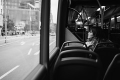 Bus X10 (Alexander Rentsch) Tags: sonya7ii zeissloxia235 germany deutschland berlin charlottenburg bus urban city metro transportation public people streetphotography monochrome bokeh depthoffield dof vscofilm