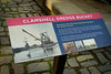 Museum Placard Clamshell Dredge Bucket (Dawna Kay) Tags: san joaquin county historical sociey museum christmas