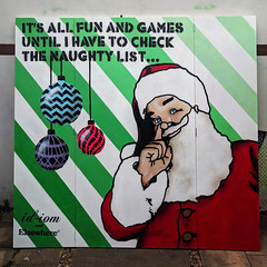 It's all fun and games... (id-iom) Tags: aerosolpaint art arts bauble brixton christmas cool dancefloor elsewhere england face fairy father fun games graffiti head idiom lights london man paint santa screen smile spray spraypaint stencil streetart stripes uk urban uvpaint wall wood