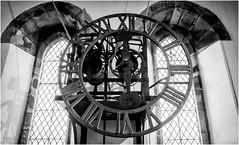 St Augustines . Alston . (wayman2011) Tags: lightroomfujifilmxpro1fujifilmxf18mmf2 wayman2011 bw mono churches religeousbuildings clocks windows pennines dales tynedale alston cumbria uk