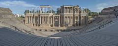 Roman theater (biktoras07) Tags: roman theater mérida spain constrution architecture historic palmtrees stairs stage procenio columns outdoor outside sky spring blue white light