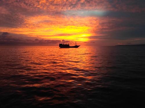 Sunset at BMJ Biak Island, Papua, Indonesia