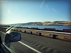 More Freight on the Gorge (goofcitygoof) Tags: picmonkey columbiarivergorge freighttrains oregon