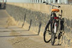 Bike with orange saddle (Jan van der Wolf) Tags: map15749v bike fites fiets dof depthoffield scherptediepte bicycle