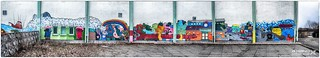Hoyerswerda - Wandmalerei am Heizhaus eines Wohnkomplexes