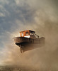 leaving town (Mattijn) Tags: boat fly amsterdam photomontage artphotography surreal smog blueamsterdam