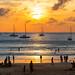 Sunset with yachts at Nai Harn beach, Phuket         XOKA0579s
