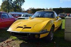 Opel GT (Monde-Auto Passion Photos) Tags: voiture vehicule auto automobile opel gt coupé jaune ancienne classique rare rareté rassemblement evenement france montereaufaultyonne yellow