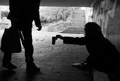 Please (Christof Timmermann) Tags: olympus olympusomd omd blackwhite blackandwhitephotography please people homeless bonn bridge underground understanding monochrome christof timmermann