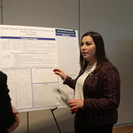 Alexa Desantis presenting her Capstone Poster
