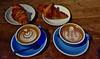 Latte Arte: His and Hers. (André Felipe Carvalho) Tags: latte arte cappucino amsterdam kinkerstraat café