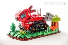 Duplo Logo Tank (dvdliu) Tags: lego duplo tank mech military moc rabbit bunny