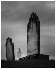 _DSC3271 (gillesporlier) Tags: tomb stone tombstone statue dark nikon d750 blackandwhite noiretblanc ligthroom graveyard cimetiere ciel
