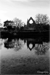 abbey b&w water