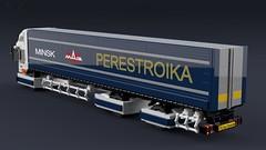 """MAZ-2000 """"Perestroika"""" [2] (initial_dvache) Tags: ldd lego blender mecabricks truck roadtrain 8wide"""