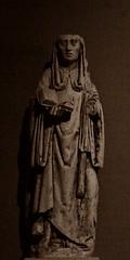 4 - Reims - Musée Saint-Remi - Saint Basle, Champagne, 15ème siècle (melina1965) Tags: reims marne grandest octobre october 2017 nikon d80 sculpture sculptures statue statues sépia sepia