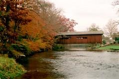 Stoner Bridge 2 (pauljohnson34) Tags: autumn stream water river creek t70 canon kodak ektar messiahcollege coveredbridge bowmansdalebridge stonerbridge