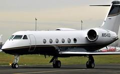 N854SD GULFSTREAM IV NEWCASTLE (toowoomba surfer) Tags: bizjet businessjet executiveaviation jet aeroplane ncl egnt