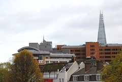 Globe and the Shard (emilyvisich) Tags: london uk england downtown touring