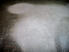 Visible Wear Pattern (Damage) to ACM Floor Tile (Asbestorama) Tags: asbestos inspection damage wear worn floor tile flooring