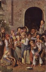 Old postcard (Ferencdiak) Tags: children school waldmüller painting képeslap festmény gyerekek iskolások 19th xix