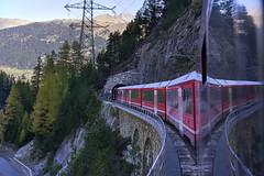 Rhaetian Railway, the Albula line (Karl Le Gros) Tags: albula albulaline rhaetianrailway xaviervonerlach albulavalley graubünden 2017 switzerland swissalps railway train sonyilce7rm2 zeisssonnartfe55mmf18za valley