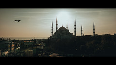 Blue Mosque (Sultan Ahmed), Istanbul (emrecift) Tags: landscape cityscape sunset street photography ancient historic peninsula mosque istanbul old city cinematic 2391 anamorphic fujifilm xpro2 xf16mm f14 wide angle emrecift