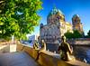 Statues in Berlin, Germany (` Toshio ') Tags: toshio berlin germany statues women riverbank spreeriver berlinerdom berlincathedral cathedral river europe europeanunion european tree