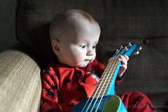Intro to Music (H. Evan Miller) Tags: hevanmiller alpha ukulele baby infant devin sony a6000 ilce6000 family nex