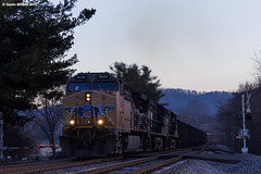 Loud Uncle (nrvtrains) Tags: shawsville christiansburgdistrict newtownrd predawn manifest unionpacific crossing norfolksouthern 17m virginia unitedstates us
