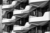 Balconies in White (laga2001) Tags: balcony repetition black white architecture berlin monochrome bw bnw moderen contemporary house building urban concrete style curve round geometry