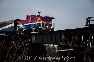 2017 Christmas Train backing down the Sangudo