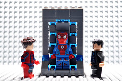 Wow..Its for me?? the Iron Spider Suit. Thank Mr Stark. (Superhero Minifig) Tags: ironspidersuit tonystark peterparker spiderman spiderboy spiderverse marvel superherominifigs superhero mcu minifigs minifigure teamironman